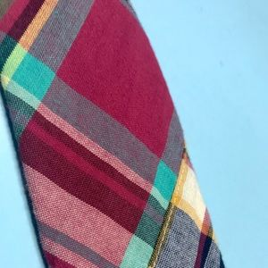 J. Crew Accessories - men's Madras cotton neck tie, worn 2-3x, like new!